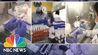 Inside A U.S. Lab Working To Identify, Isolate Coronavirus Variants | NBC News NOW