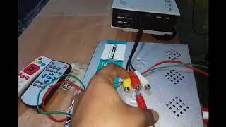 play tv in projector very simpely, प्रोजेक्टर से TV चलाएं