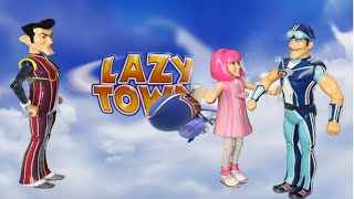 Lazy Town Talking Action Figures Sportacus, Stephanie and Robbie Rotten [HD]