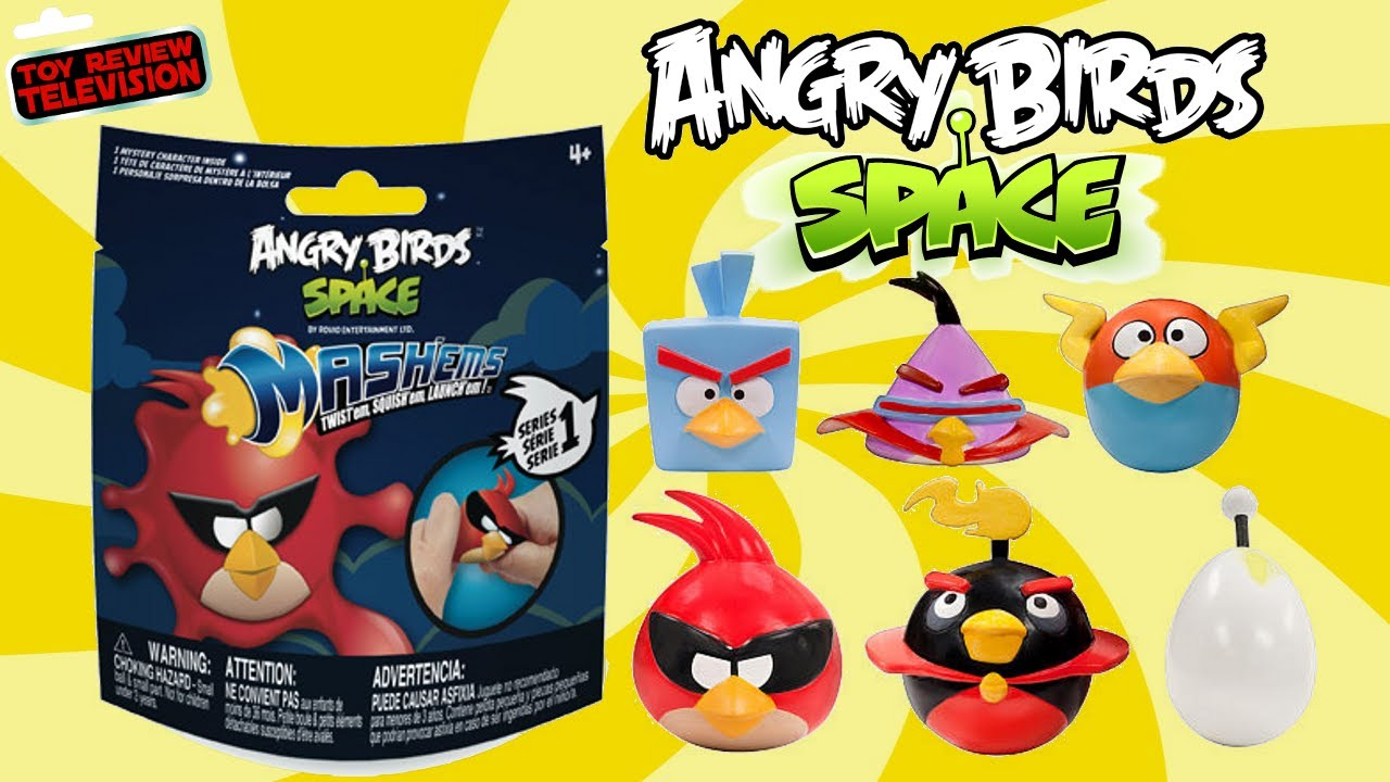 Angry Birds Space Toys : Angry birds space mash ems blind bags surprise toys video