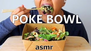 ASMR Poke Bowl *Eating Sounds* +New Mic Test