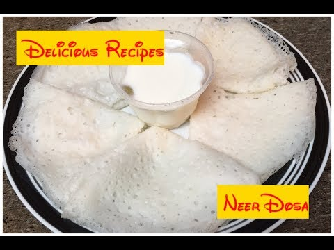 Neer Dosa Recipe  Quick Breakfast  No Fermentation Dosa In Tamil With English Subtitles