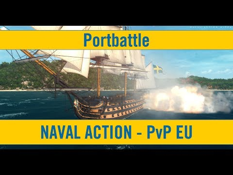 Naval Action Lineship Portbattle in Sant Iago Victory SWE vs SP Mixed