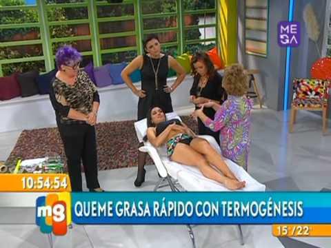 Angelica Contreras - Estética - Quema grasas rápido - Mucho Gusto - www.mega.cl