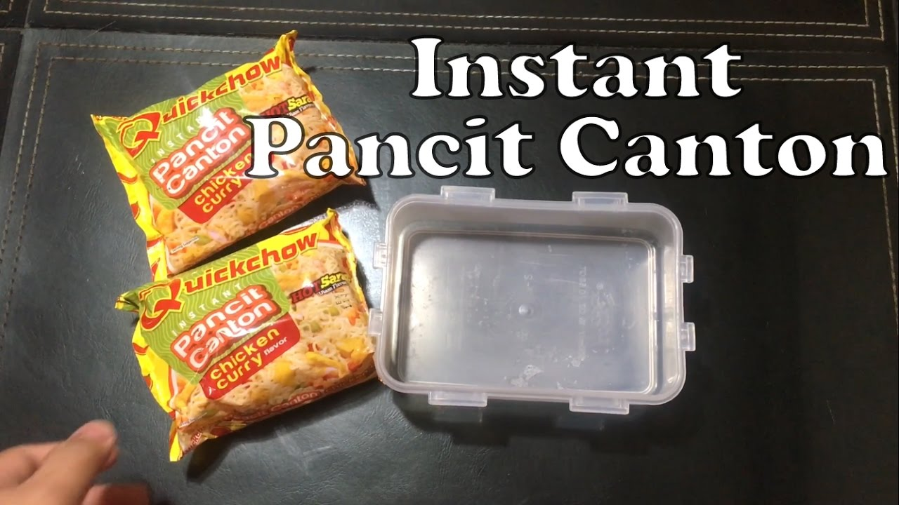 How To Cook Instant Pancit Canton Using A Microwave (feat Quickchow  Chicken Curry)