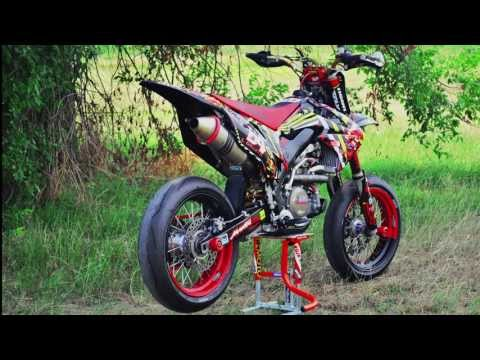 Supermoto Honda CRF 450r Akrapovic Amazing Sound - Only Engine!