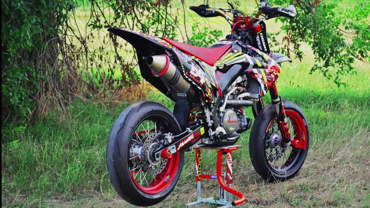 Supermoto Honda Crf 450r Akrapovic Amazing Sound Only Engine