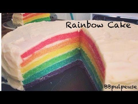 Gateau rainbow en francais