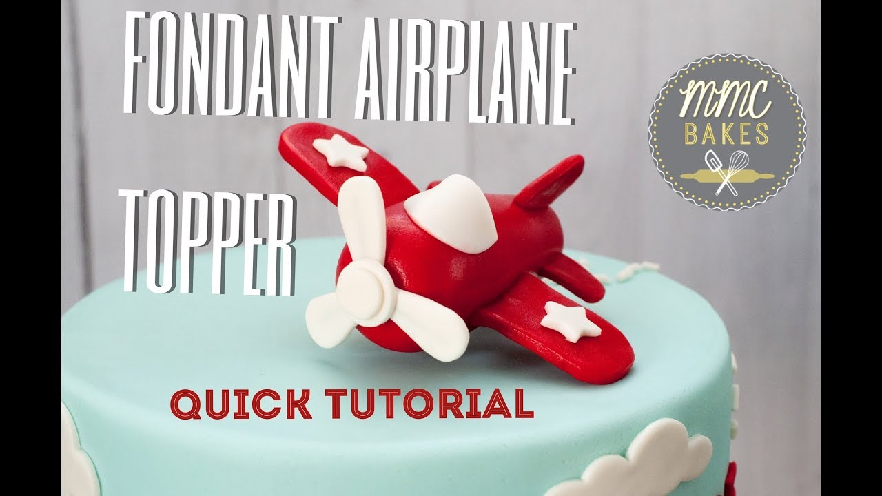 Airplane cake decoration in buttercream & fondant by gracie cakes.