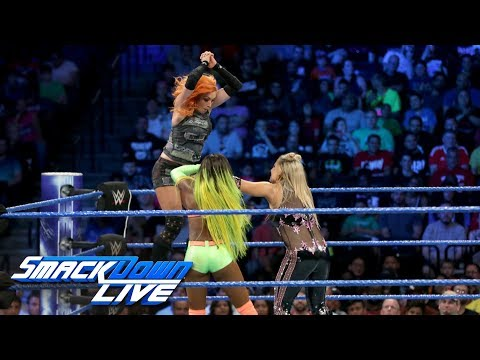 Thumbnail: Naomi & Becky Lynch vs. Natalya & Carmella: SmackDown LIVE, Aug. 22, 2017