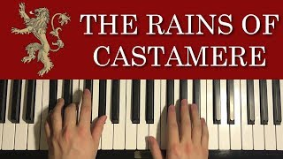 Скачать How To Play Game Of Thrones The Rains Of Castamere PIANO TUTORIAL LESSON