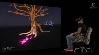 Tilt Brush funArtist with the 3dRudder
