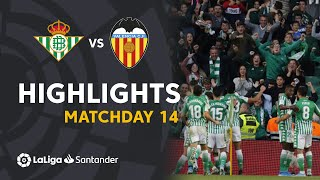 Highlights Real Betis vs Valencia CF (2-1)