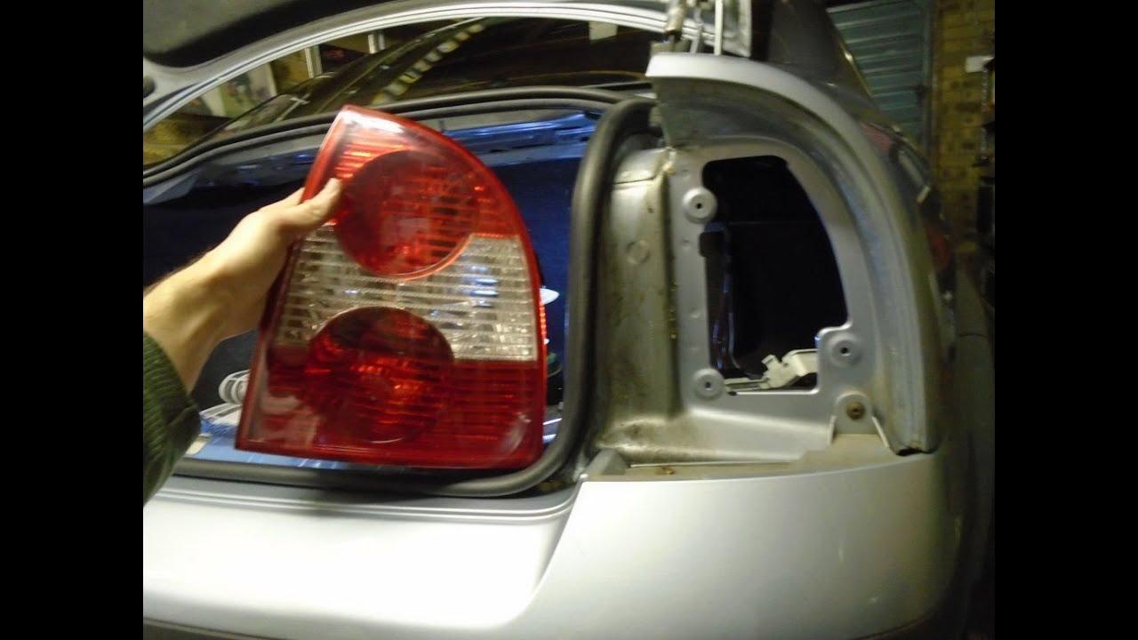 wiring diagram garage lights volkswagen passat rear light cluster change youtube  volkswagen passat rear light cluster change youtube