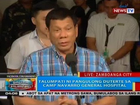 BP: Talumpati ni Pangulong Duterte sa Camp Navarro General Hospital