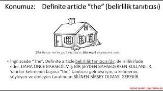 ingilizce Definite article konu anlatımı THE