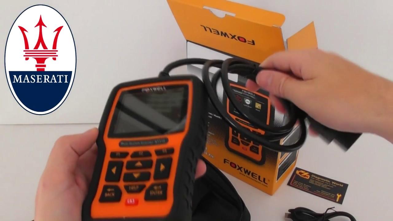maserati nt510 diagnostic tool box opening - youtube