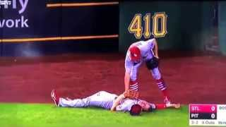 St Louis Cardinals Stephen Piscotty Gets Knocked Out By An Accidental Knee To The Face  New Vid