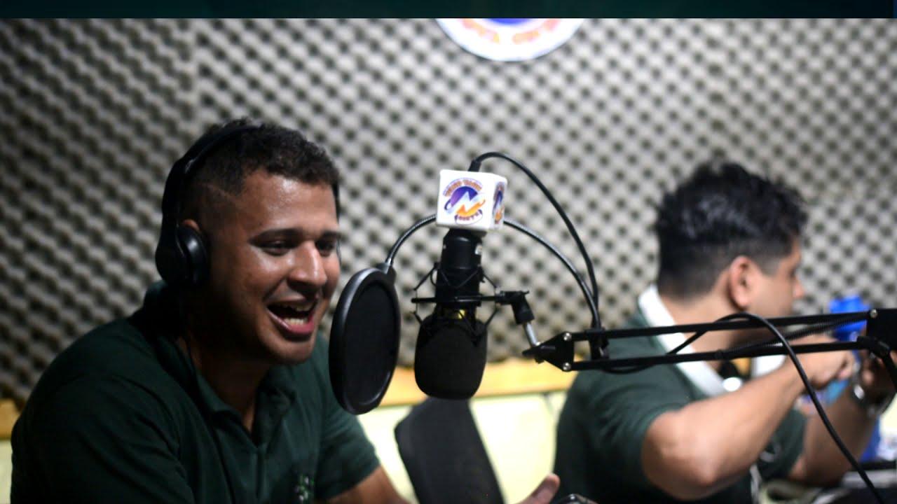 Narração  da transmissão entre jogo do Flamengo e Bahia