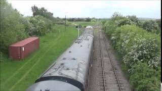 Class 25 at 50 Steps Footbridge Great Central Railway Nottingham 23/5/15