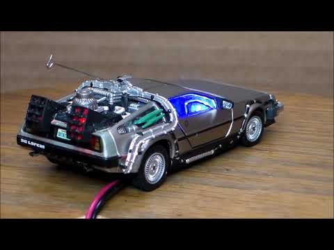 Custom Lighted 'Back To The Future' DeLorean