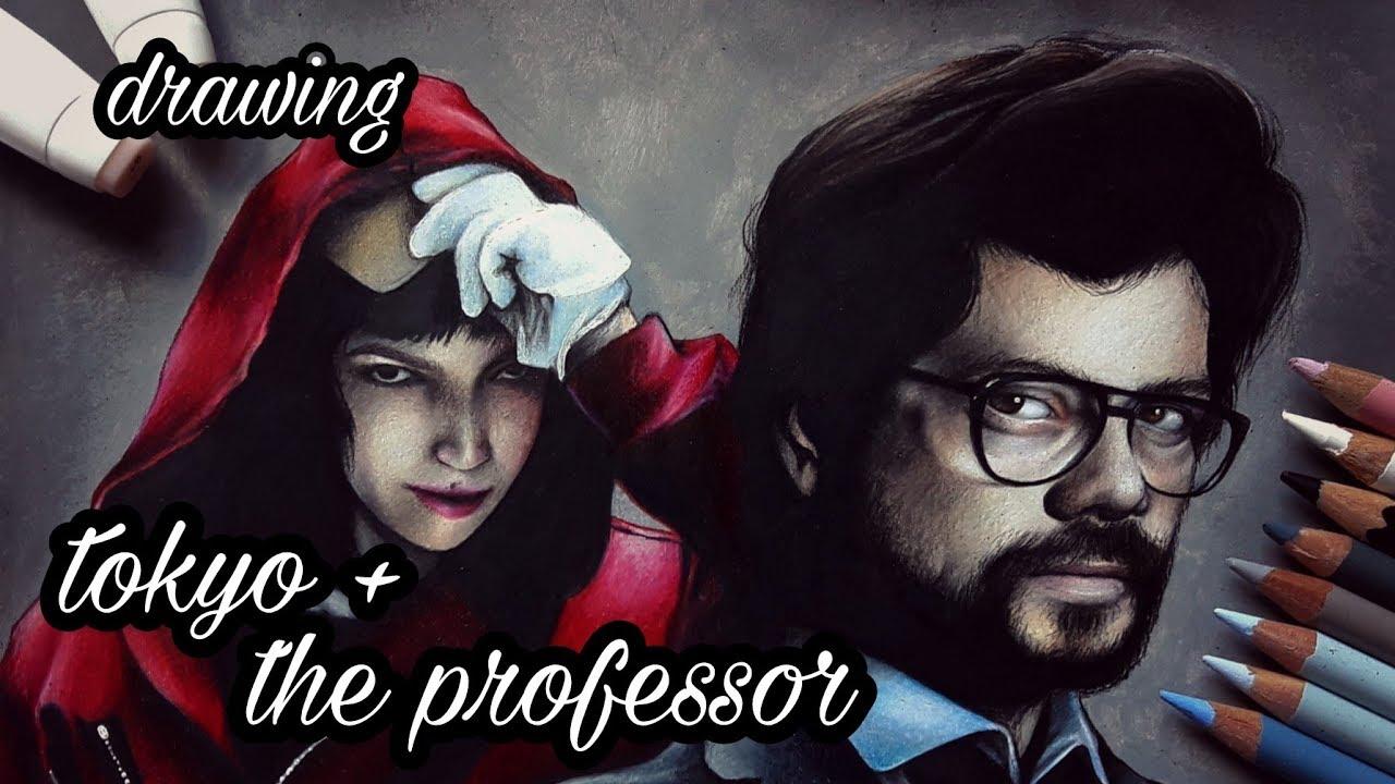 Drawing The Professor and Tokyo from LA CASA DE PAPEL/ MONEY HEIST I DaniArt