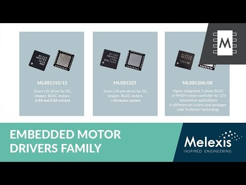 3-phase BLDC or PMSM motor controller IC (MLX81205/07) #Melexis