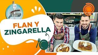 Cocinan dos especial postres: flan casero y zingarella