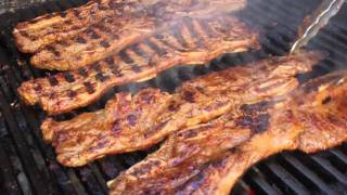 Korean-style Beef Short Ribs -- Grilled Flanken-style Beef Short Ribs