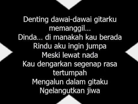 Lirik Dinda Dimana ~ Katon Bagaskara (Kla Project)
