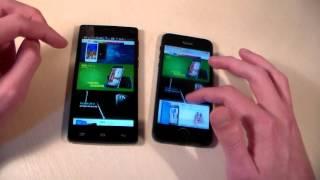 Fly Nimbus 2 vs iPhone 5 (HD)