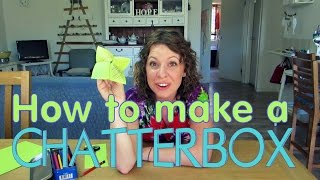How to make a Chatterbox - EASY Origami