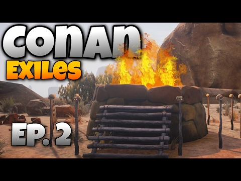 Conan Exiles - Ep. 2 -  Building a House and the Pit of Yog! - Let's Play Conan Exiles Multiplayer