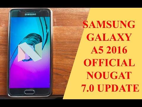 Samsung Galaxy A5 2016 Nougat Update