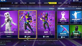 GLOWSTICKS | NFL SKINS | MARSHMELLO | MELLO RIDER ; Item Shop in FORTNITE #February2nd