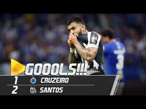 Cruzeiro 1 x 2 Santos | GOLS | Copa do Brasil (15/08/18)