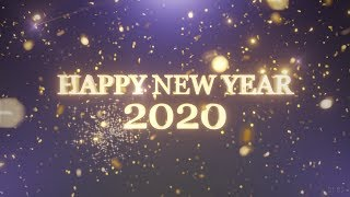 HAPPY NEW YEAR 2020 Countdown with fireworks