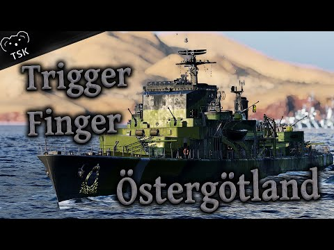 Trigger Finger World Of Warships Ostergotland Class Swedish Destroyer Youtube