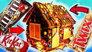 ОГРОМНЫЙ ДОМ из ШОКОЛАДА Twix, Kit Kat и M&M's. Это круче, чем ПРЯНИЧНЫЙ домик)