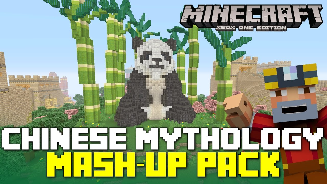 Minecraft Xbox 360One Chinese Mythology Mash Up Pack