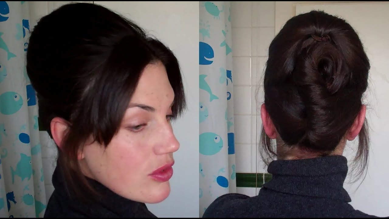HOTD # 11 Easy Beehive Updo NO TEASING Hairstyle (60u0027s Retro Vintage  Volume)   Vintagious   YouTube