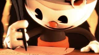 """[SFM] Cuphead Rap Song """"You Signed a Contract"""" (Animation by Myszka11o) Fandroid the Musical Robot"""
