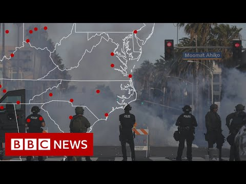 How tear gas became the go-to weapon for US police - BBC News