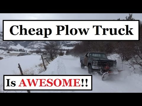 CHEAP Snow Plow Truck Works AWESOME!!! (Bring on the Snow!)