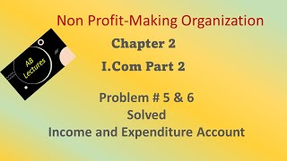 Question 5 & 6    Non Profit Making Organizations    Chapter 2