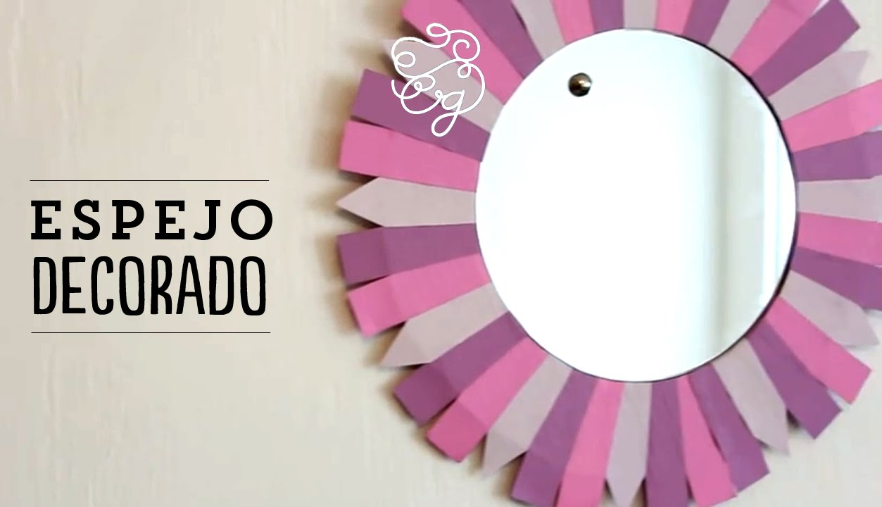 Decora tu espejo y tu habitaci n craftingeek youtube for Espejos circulares para decorar