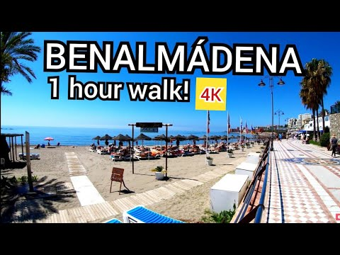 ⁴ᴷ BENALMADENA Walking Tour, Malaga, Costa Del Sol Andalusia, Spain 🇪🇸 4K
