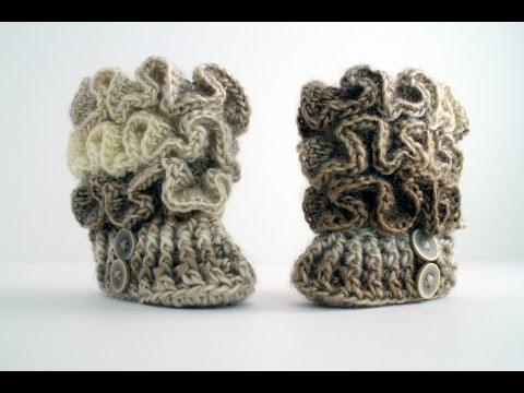 How to Crochet Baby Booties - YouTube