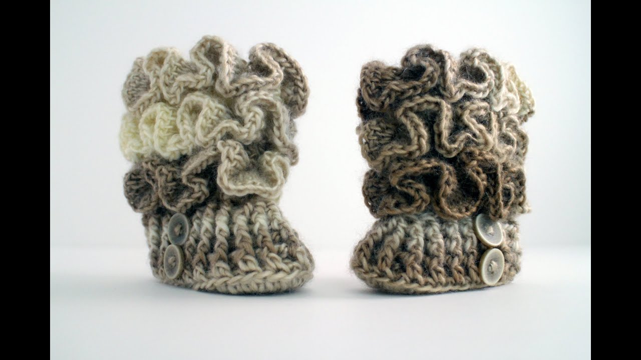 How to crochet baby booties youtube bankloansurffo Choice Image