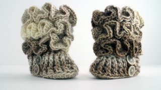 Repeat youtube video How to Crochet Baby Booties